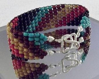 SALE Cherokee Colors Twist 7-1/2-inch/19 cm Woven Beads Bracelet
