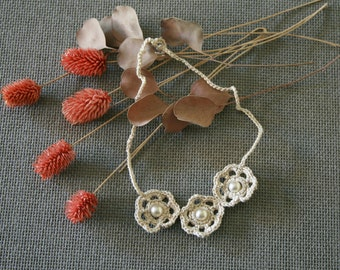 """Bijoux crochet """"Trifleure de perles"""""""
