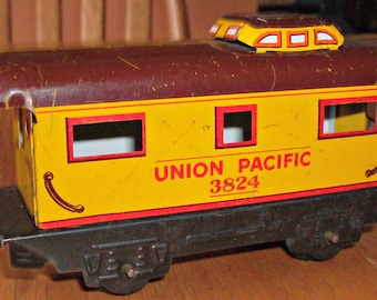 Vintage UNION PACIFIC Railroad Car