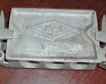 Vintage Aluminum Lead Sinker Mold