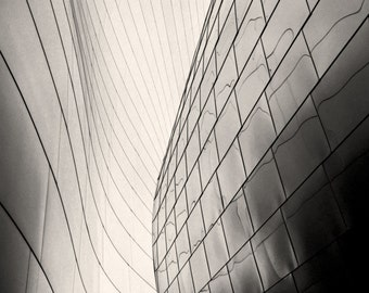Los Angeles Photography, Walt Disney Concert Hall, Black & White Photography, Downtown LA, Black and White, Abstract, Frank Gehry