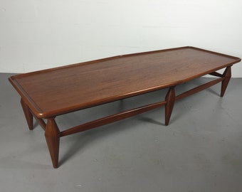 Mid Century Modern John Widdicomb Walnut Coffee Table / Dunbar / Robsjohn  Gibbings