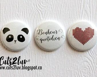 """3 badges 1 """"Panda"""
