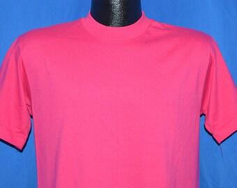 80s Pink Blank Hanes t-shirt Medium