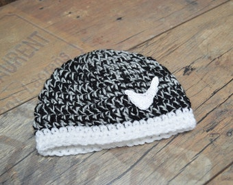 Crochet baby boy Hat, The Yeezy Boost Hat, Baby Boy Crochet Beanie, Newborn Hat, Yeezy 350 Boost, Gray, Black and white yarn, Baby photoprop