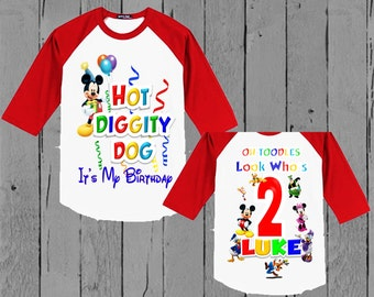 Mickey Mouse Clubhouse Birthday Shirt - Mickey Mouse Birthday Shirt
