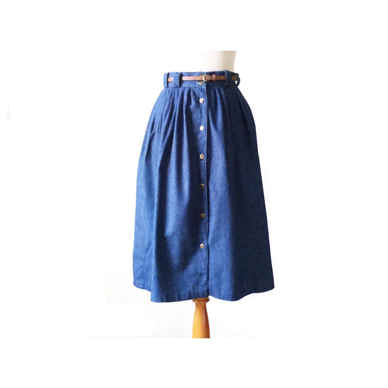denim skirt jean skirt button skirt by missouricrossing