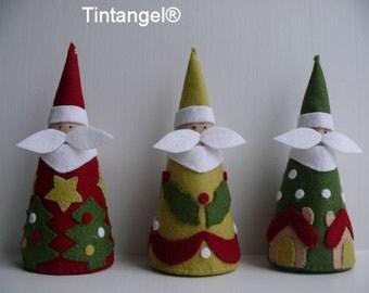 The three Santa's - DIY kit
