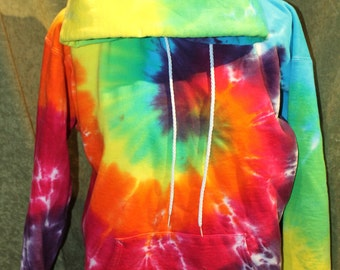 Tie-dye pull over Hoodie- small