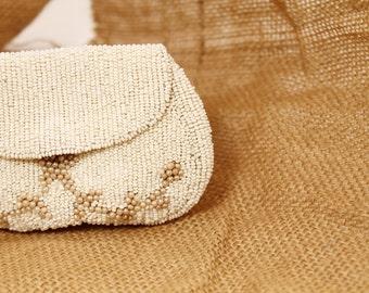 Beaded Change Purse, Beaded Makeup Bag,  Beaded Evening Bag