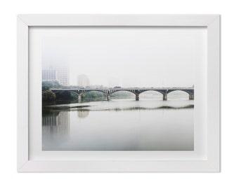 Congress Bridge Print, Austin Texas Wall Art, Landscape Photography, Austin Print, Minimalist Art, Calm Wall Decor, Austin Texas Photography