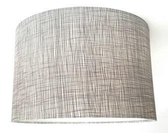 Crosshatch Fabric Drum Lampshade
