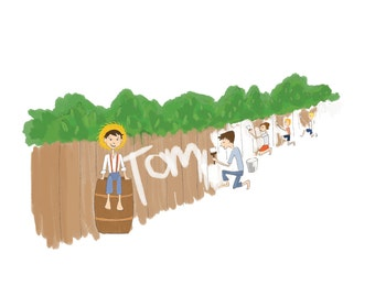 Tom Sawyer - The Adventures of Tom Sawyer - Fine Art Print