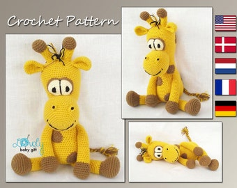 Amigurumi Crochet Pattern, Giraffe, Amigurumi Pattern, Crochet Giraffe Pattern, Animal Crochet Pattern, CP-136