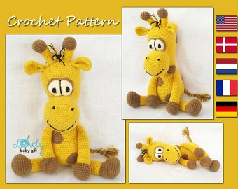 CROCHET PATTERN - Amigurumi Giraffe, Amigurumi Pattern, Stuffed Giraffe Pattern, CP-136