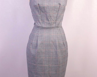 Hounds-tooth Check Catherine Dress