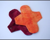 "8"" Minky Cloth Pads - Set of TWO - Reusable Cloth Menstrual Pads"