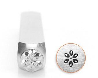 Lily flower metal design stamp - 6mm - ImpressArt - flower metal punch