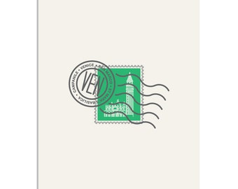 St Marks Square, Venice Stamp - 8x10 Art Print