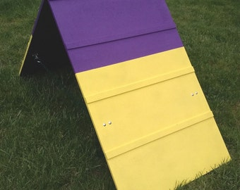 Dog Agility Equipment | Mini A-Frame | Purple and Yellow