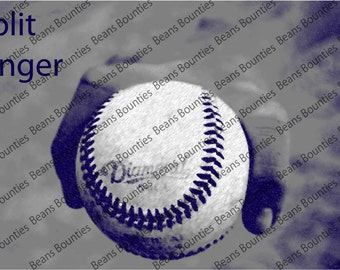Split Finger Fork Photograph Baseball Pitching Grip Series