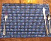 Tardis Placemats, Reversible Placemats, Kids Placemats, Dr. Who