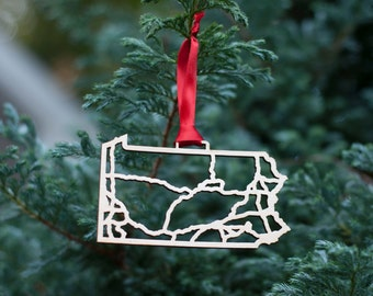 Pennsylvania Highway Christmas Ornament