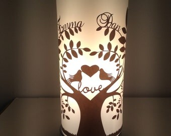 Stunning bedside or table lamp - wedding present, anniversary present