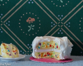 Confetti Cake with white icing
