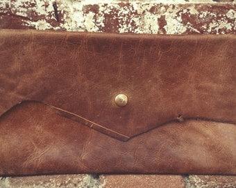 Deerskin Leather Clutch *MW Designs*