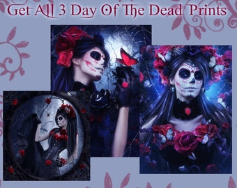 Bella Muerta art Day of Dead art print package 3