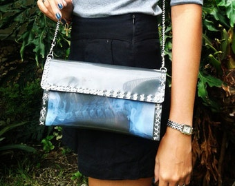 X-ray handmade crossbody bag
