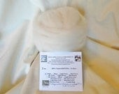 2 oz. Grade 1 - ULTRA FINE Alpaca Roving - 100% Natural White - For Spinning, Nuno Felting or Needlefelting