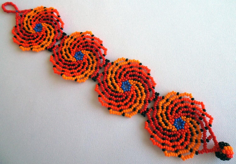 mexican huichol beaded bracelet