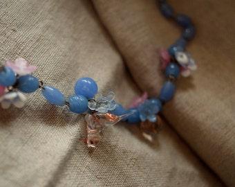 Vintage Venetian BIRD Blown Glass Necklace