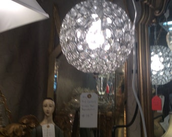 Disco crystal ball chandelier