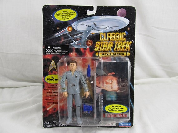 Dr. McCoy Action Figure Star Trek 1995 Playmates New Sealed Vintage Collectible & Accessories Geek Gift Trekkie Sci-Fi Lover