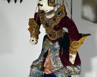 Puppet Marionette Soldier Medium Fine Quality Burmese Elegant Royal Dress