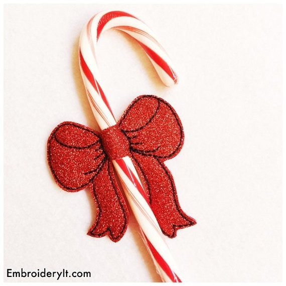 Christmas Candy Cane Holder Machine Embroidery By Embroideryit