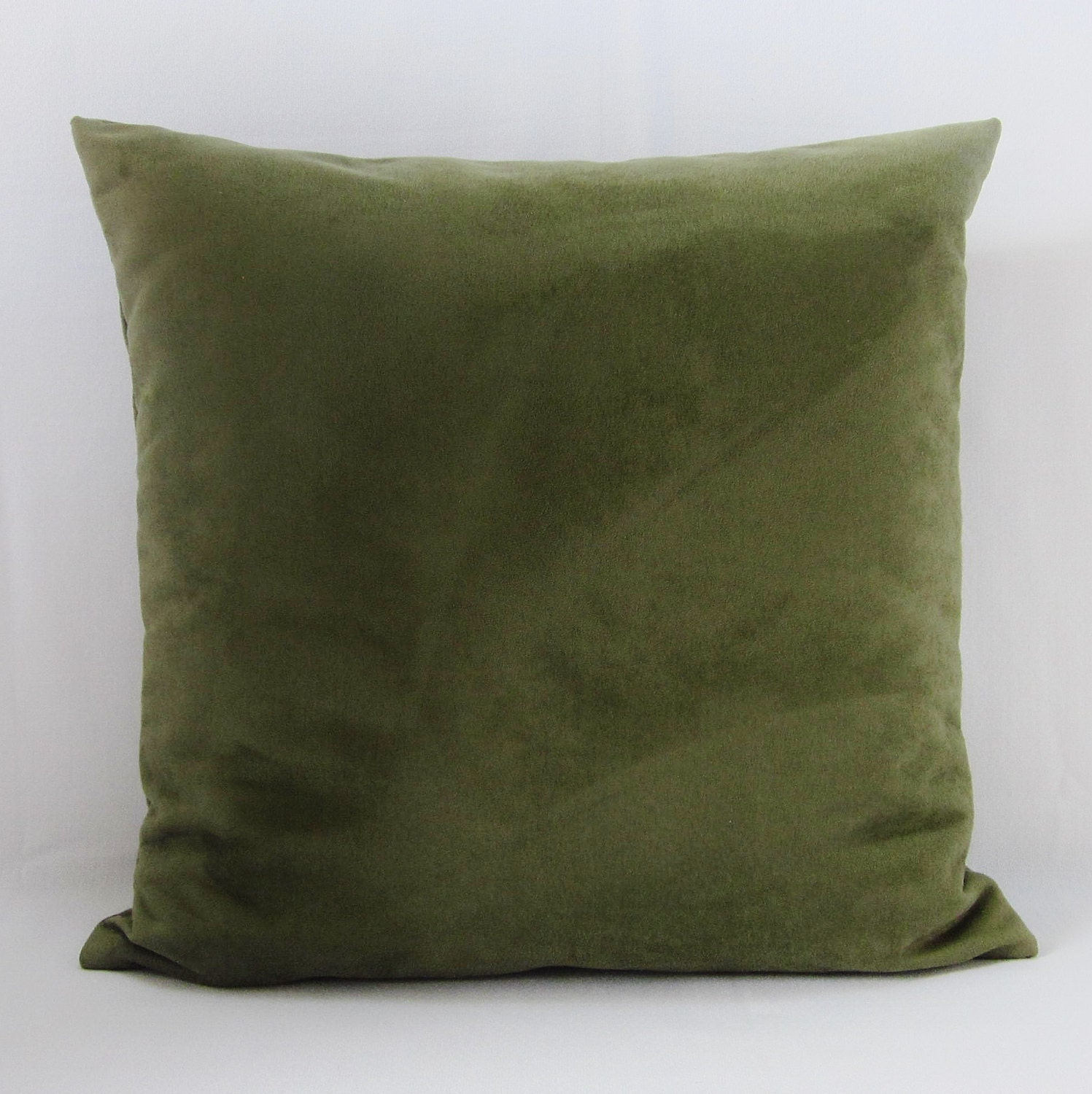 Olive Green Decorative Pillow : Olive Green Sage Suede Pillow Cover Decorative Throw Accent