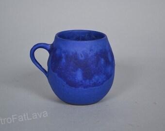 Blue cup vase  by Hoy -  Heyne  German  studio pottery