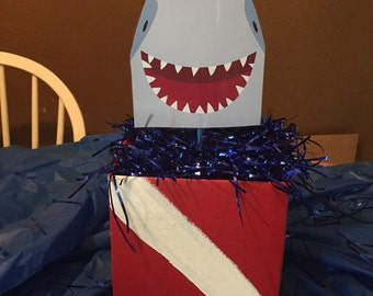 Shark  centerpieces ( multiple designs and personalization available)