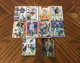10 vintage Dan Marino cards