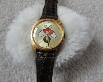 "Vintage Wind Up ""Bowling"" Watch"