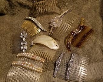 Vintage Set of 12 Hair Accessories