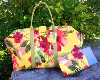 Floral Carpet Bag Weekender