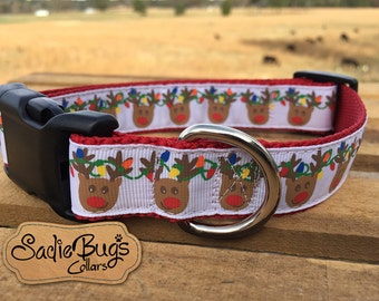 Reindeer dog collar - Christmas dog collar