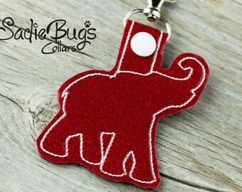 Alabama Crimson Tide Elephant Keychain Bag tag