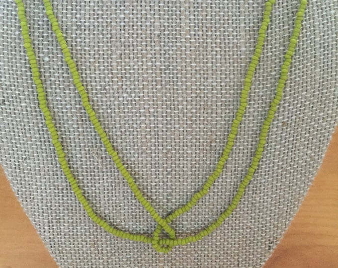 Necklace, Double string beaded necklace, Venetian seed bead, Sun Knot Necklace, color varieties, handmade