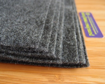 Felt - Charcoal Grey Gray - Kunin Eco Rainbow Classic Felt Made from Recycled Plastic Bottles Eco-Fi Eco Friendly Recycled Polyester
